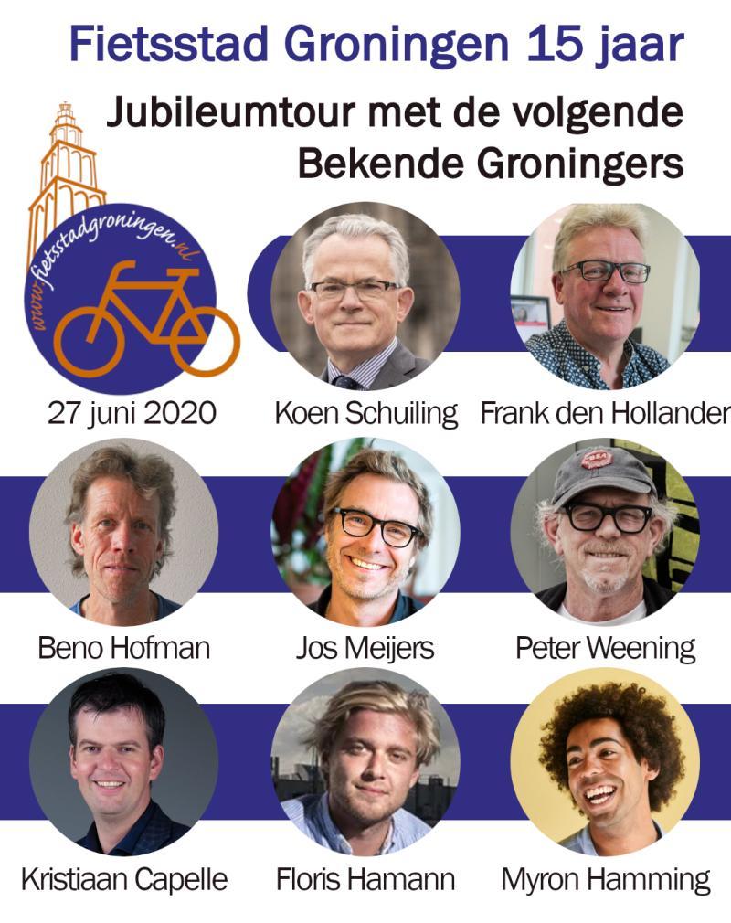 15 jarig Jubileum – Fietstour met Bekende Groningers